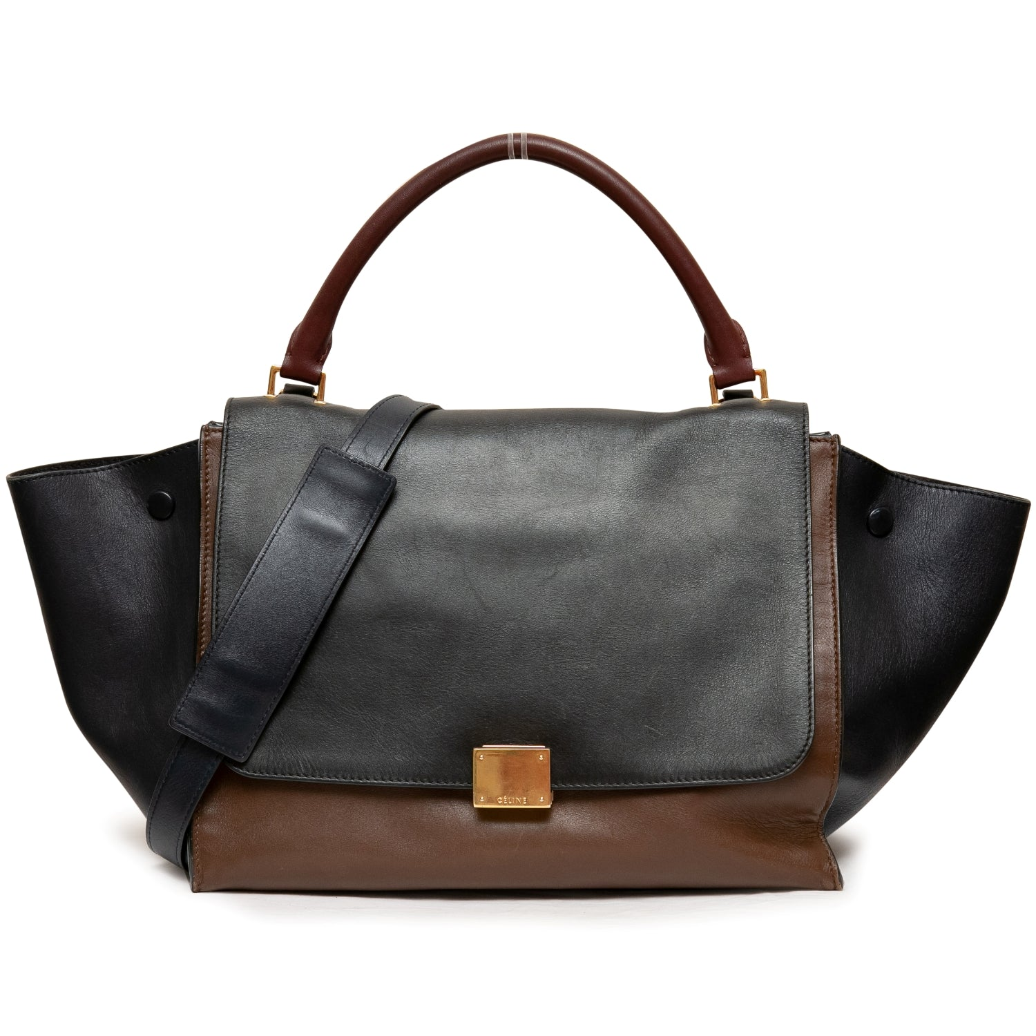 Celine Trapeze Medium Tri-Color Flap Bag