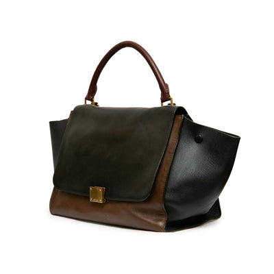 ladiesoflux - Celine Trapeze Medium Tri-Color Flap Bag - Ladies Of Lux - Handbag