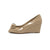 Tory Burch Patent Bow Wedge Burnt Almond, Size 7