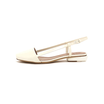 ladiesoflux - Tory Burch Pietra Glossy Leather Sandal Porcelain, Size 6.5 - Ladies Of Lux - Shoes