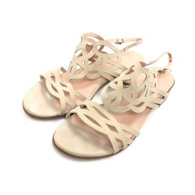 ladiesoflux - Stuart Weitzman Filigree Piedra Sandal Nude, Size 6.5 - Ladies Of Lux - Shoes