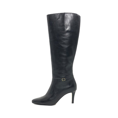 ladiesoflux - Cole Haan Garner Tall Leather Boot Black, Size 6.5 - Ladies Of Lux - Shoes