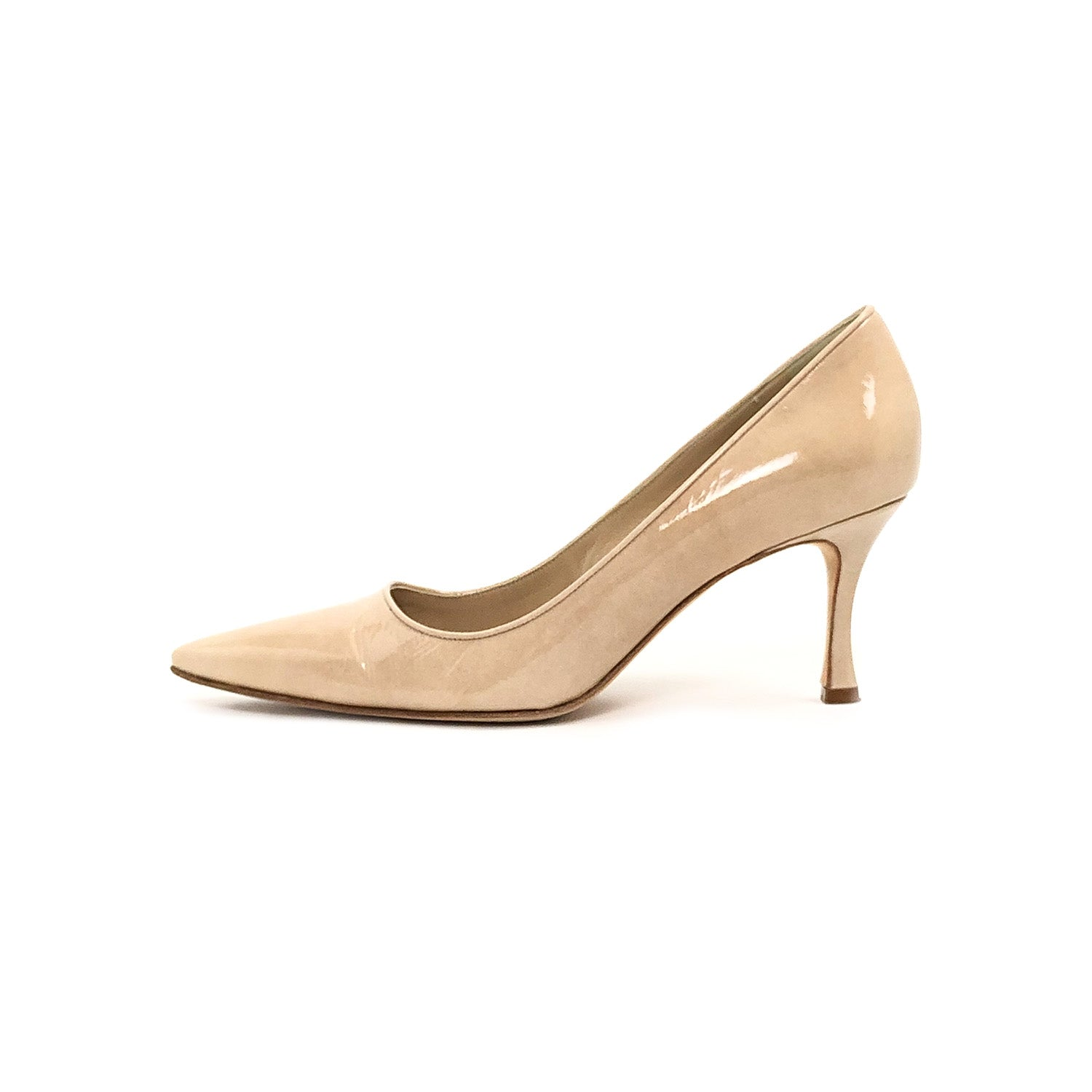 ladiesoflux - Manolo Blahnik Newcio Gala 70 Pump Fodera Rose, Size 7 - Ladies Of Lux - Shoes