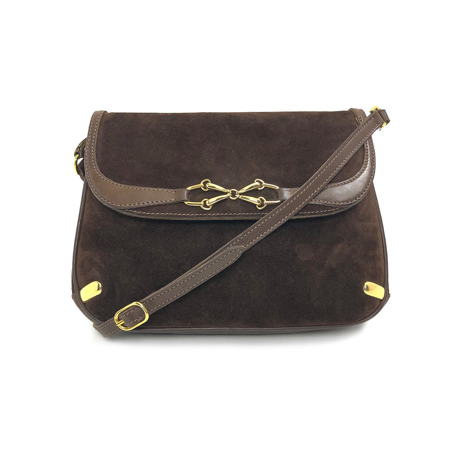 Gucci Horsebit Vintage Suede Brown Bag