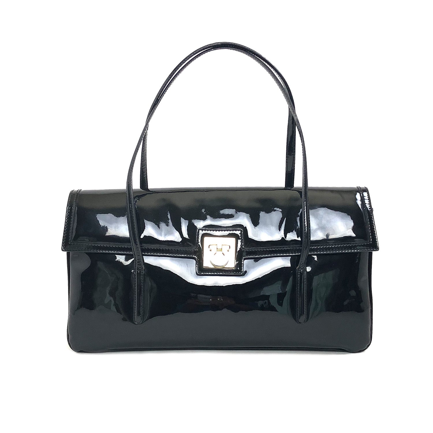 ladiesoflux - Salvatore Ferragamo Patent Shoulder Bag - Ladies Of Lux - Handbag