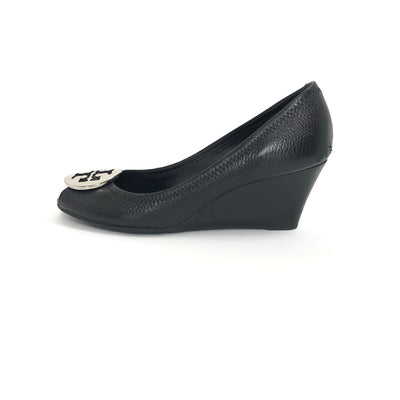 Tory Burch Kara Wedge Black, Size 7