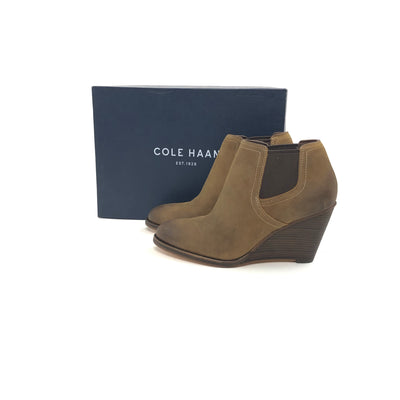 ladiesoflux - Cole Haan Balthasar Nubuck Bootie Chestnut, Size 6.5 - Ladies Of Lux - Shoes