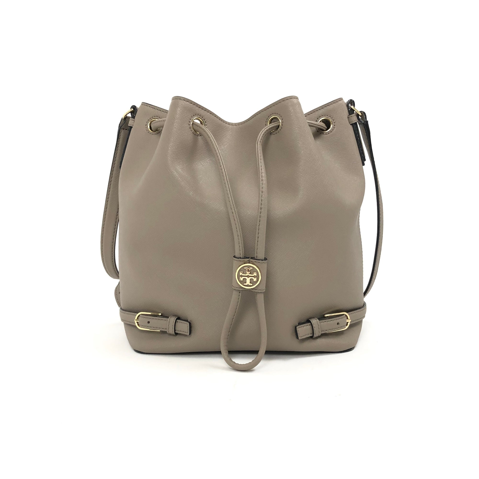 ladiesoflux - Tory Burch Robinson French Grey Bucket Bag - Ladies Of Lux - Handbag
