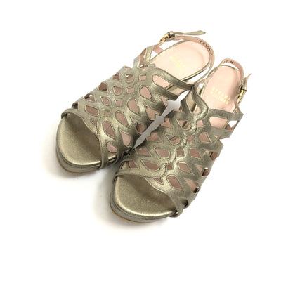 ladiesoflux - Stuart Weitzman Rollover Sandal Ale Washed Nappa, Size 6.5 - Ladies Of Lux - Shoes