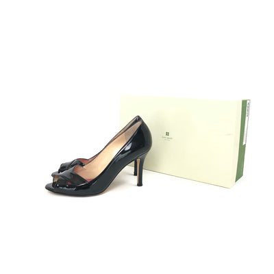 ladiesoflux - Kate Spade Gwennie Peep Toe Patent Pump Black, Size 7 - Ladies Of Lux - Shoes