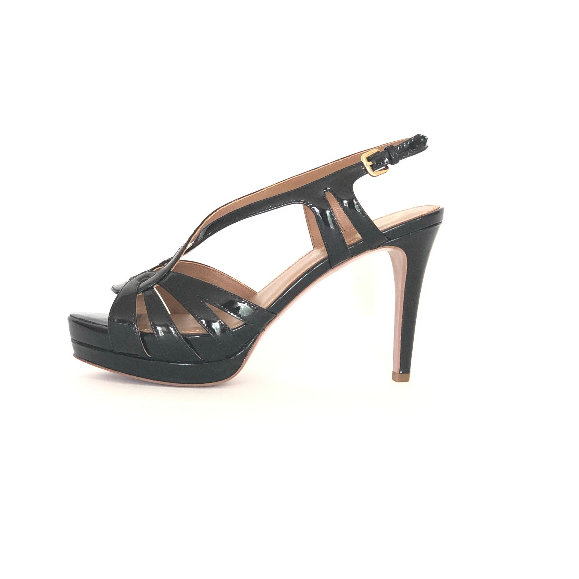 ladiesoflux - Elie Tahari Chaplin Sand Platform Sandal Black, Size 7 - Ladies Of Lux - Shoes