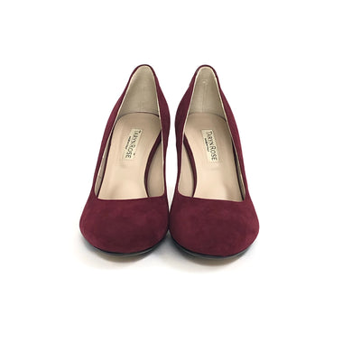 Taryn Rose Diles Camoscio Suede Pump Dark Red, Size 7