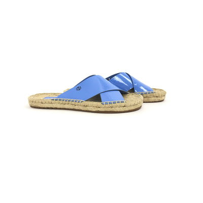 ladiesoflux - Tory Burch Bima Espadrille Slide Chicory, Size 6.5 - Ladies Of Lux - Shoes