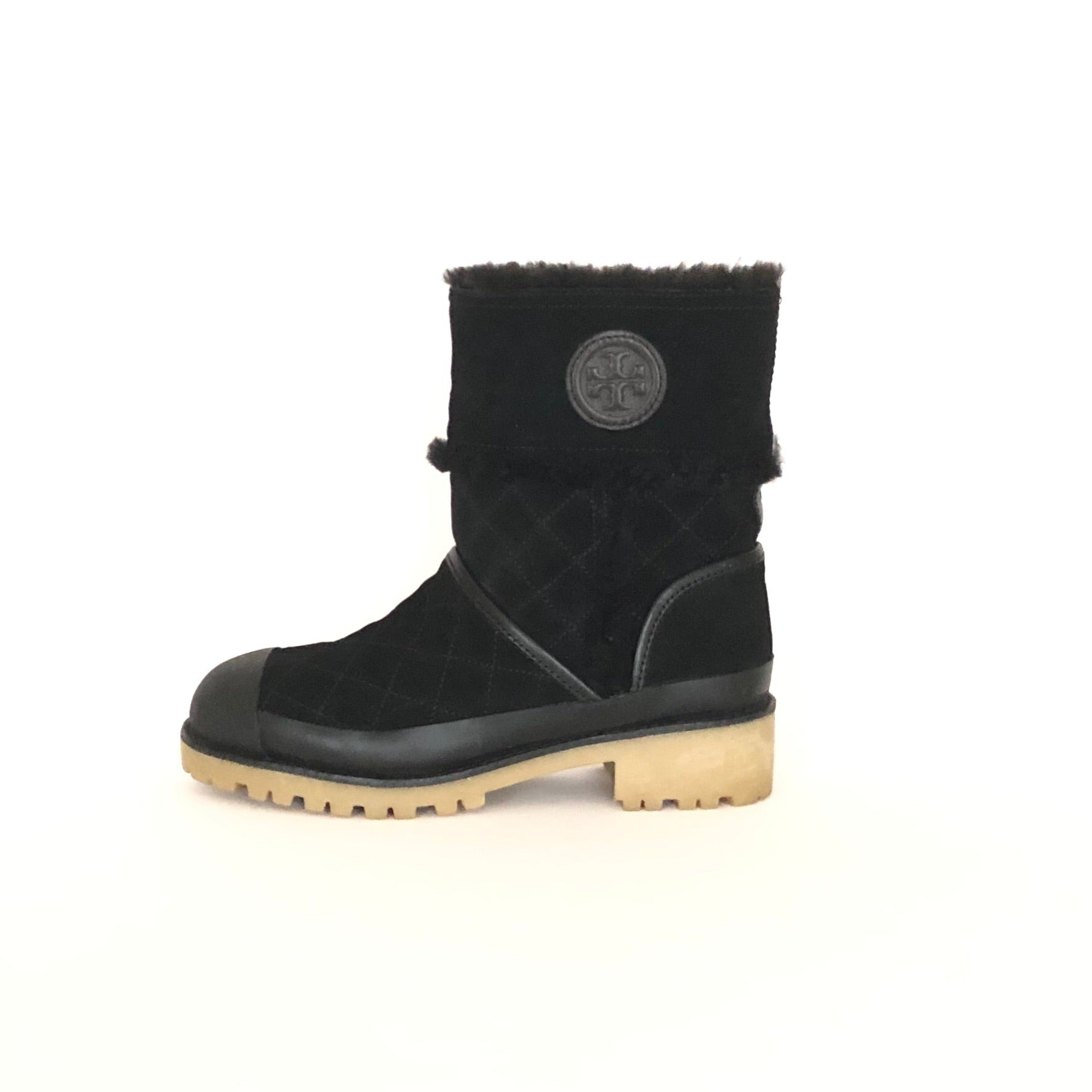 Tory Burch Boughton Shearling Black Bootie