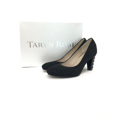 ladiesoflux - Taryn Rose Diles Camoscio Suede Pump Black, Size 7 - Ladies Of Lux - Shoes