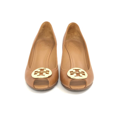 Tory Burch Kara Wedge Royal Tan, Size 7