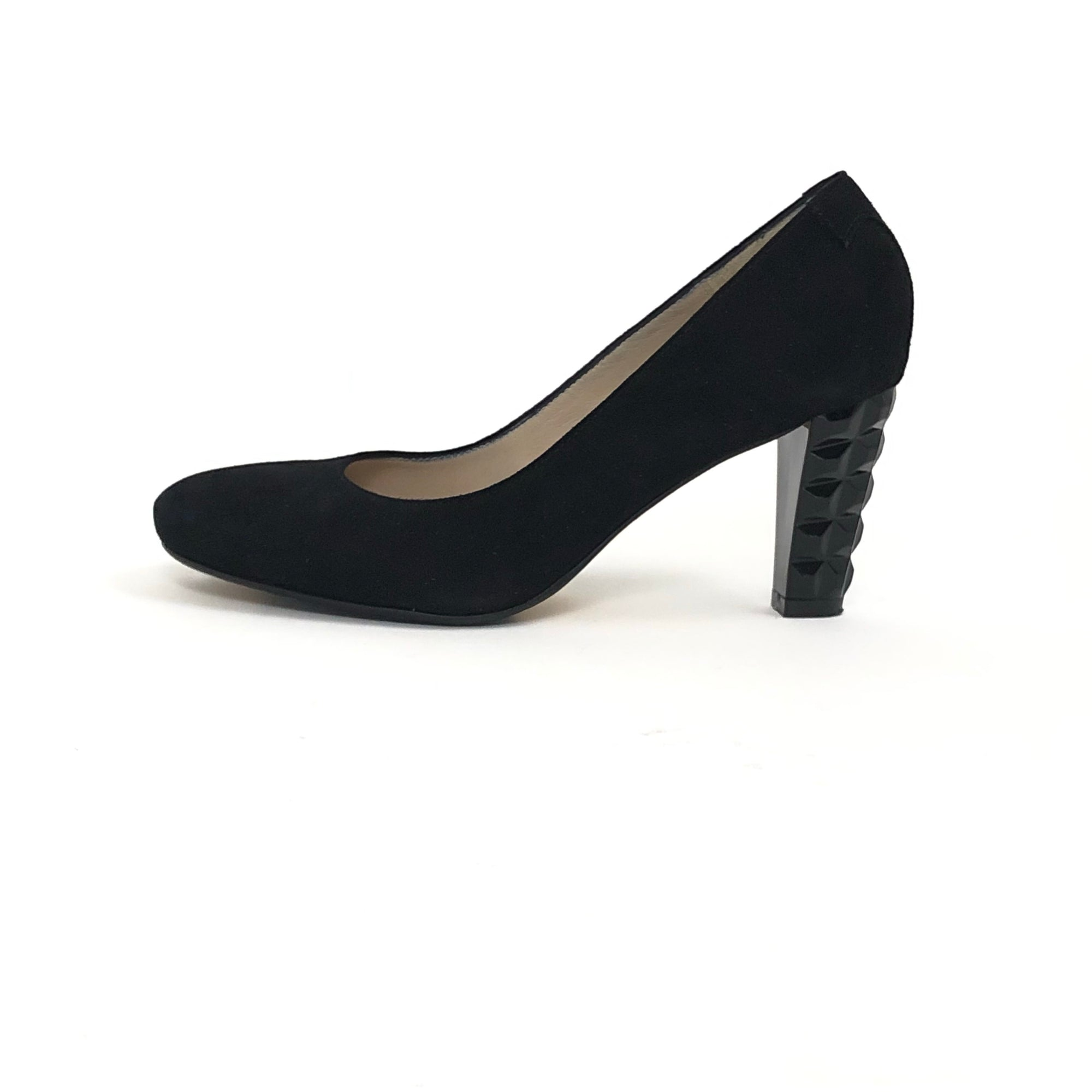 Taryn Rose Diles Camoscio Suede Pump Black, Size 7