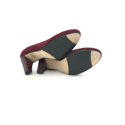 ladiesoflux - Taryn Rose Diles Camoscio Suede Pump Dark Red, Size 7 - Ladies Of Lux - Shoes
