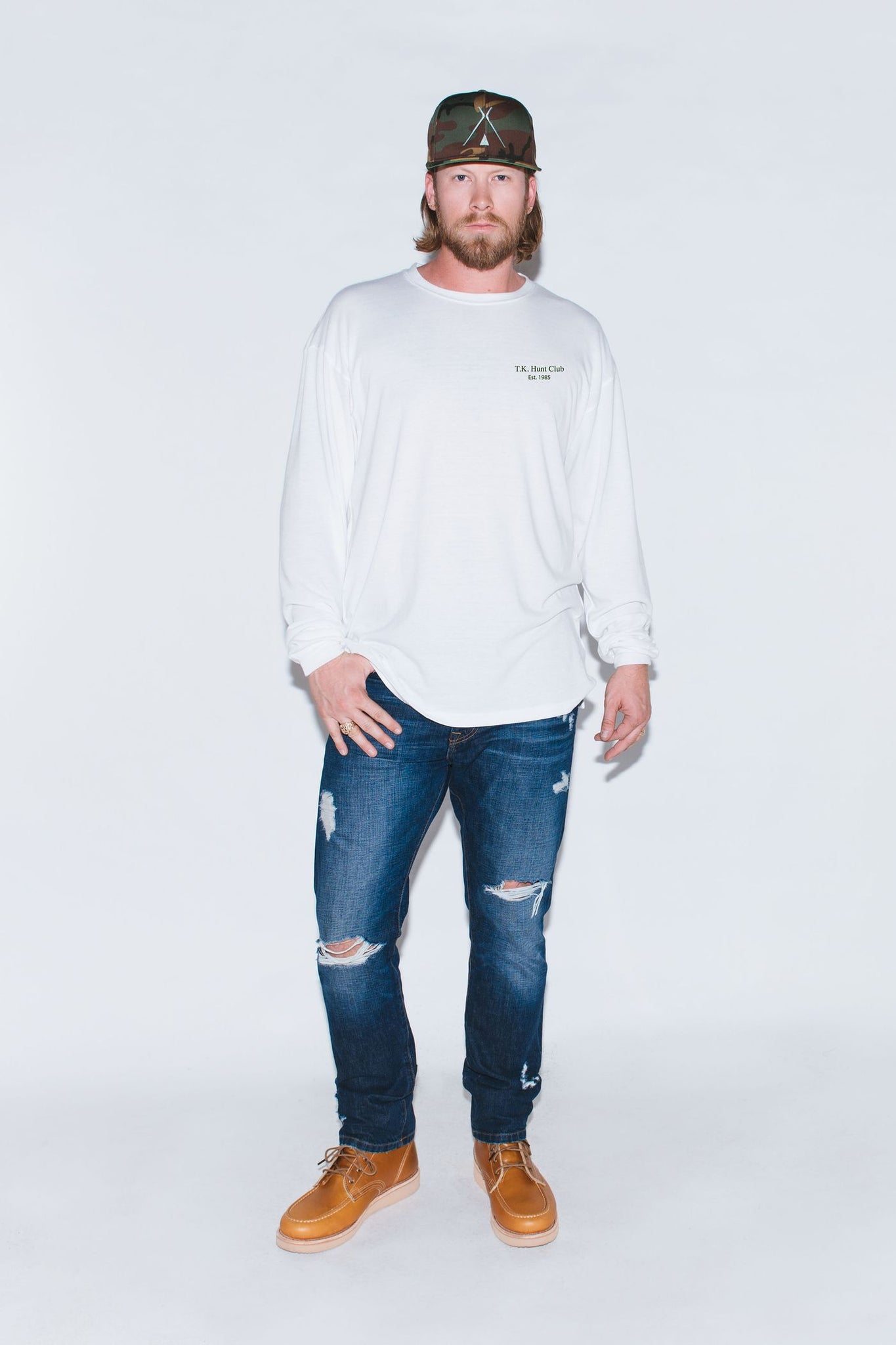 Hunt Club White Long Sleeve
