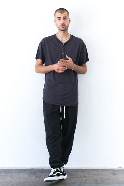 Jungle Boy Henley Black Licorice