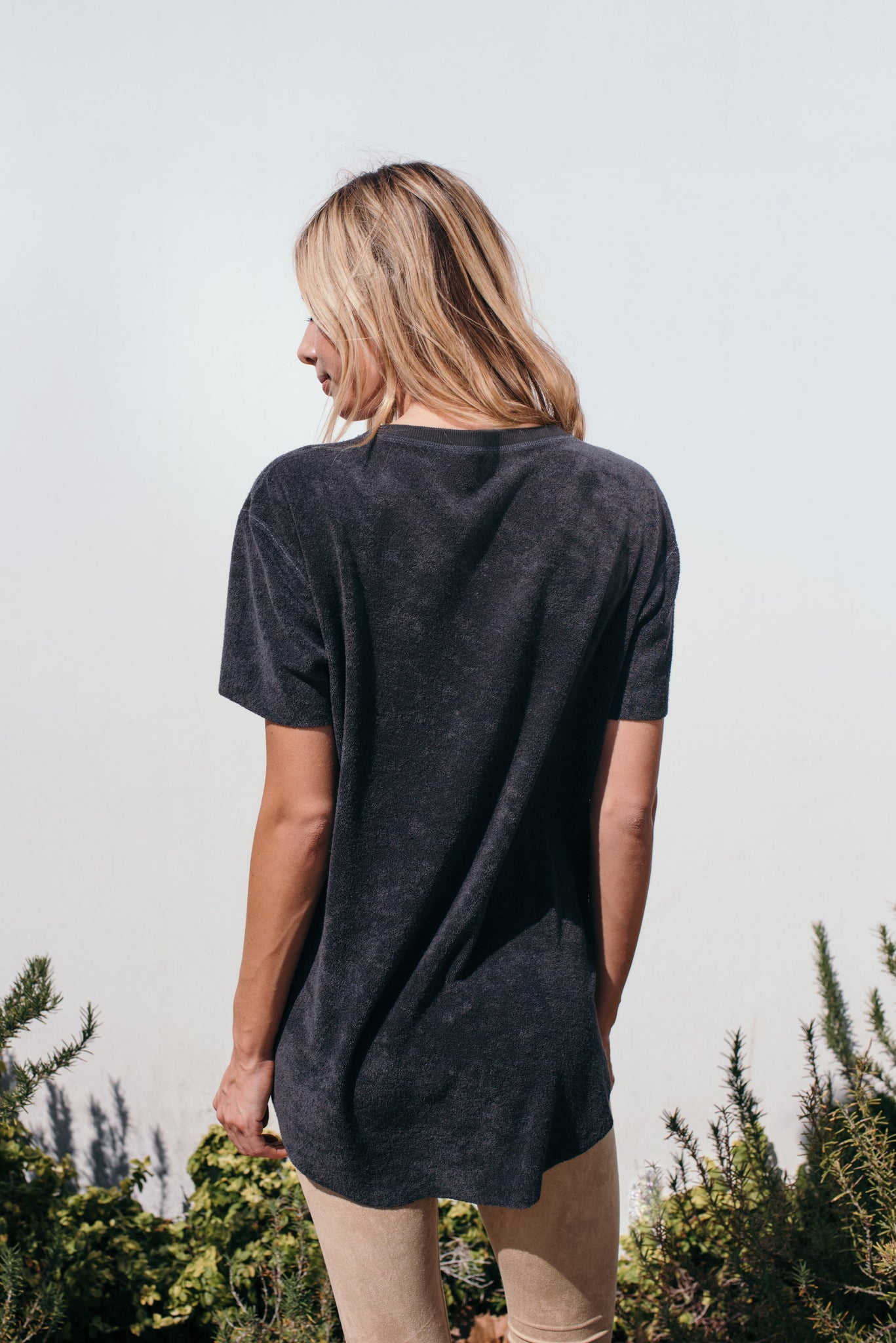 Black Elevated Towel Tee