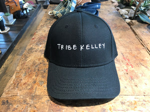 "Dad Hat (Black) Fitted-Handwritten ""tribe kelley"""