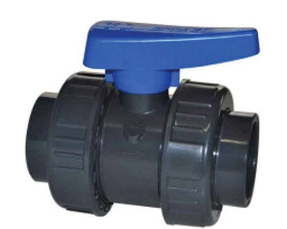 110mm (Waste pipe) Ball Valve (Double Union) Blue
