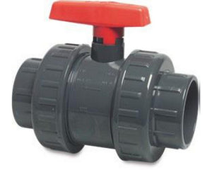 "4"" Ball Valve (Double Union) Red"