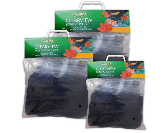 Blagdon Fine Black cover net in carry bag 3 x 2m