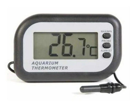 Small Black ETI Digital thermometer with 1mtr probe