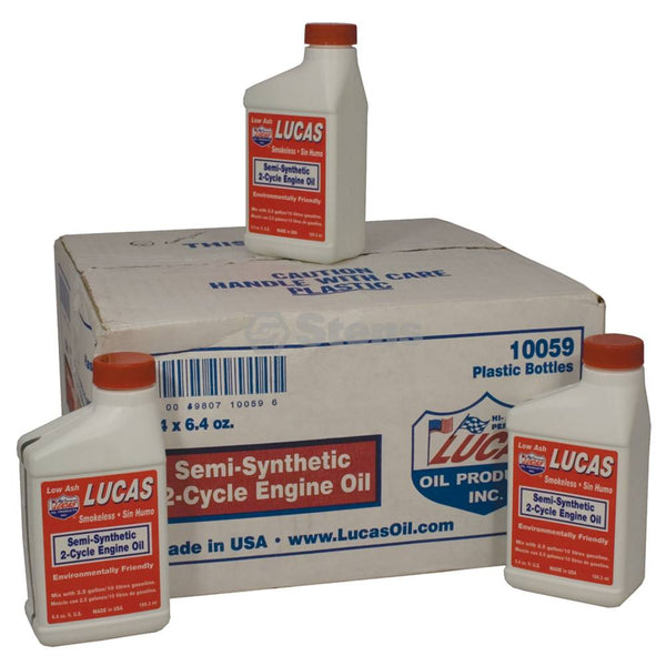 2-Cycle Oil Semi-Synthetic, 24 Bottles/6.4 Oz (Stens 051-515)