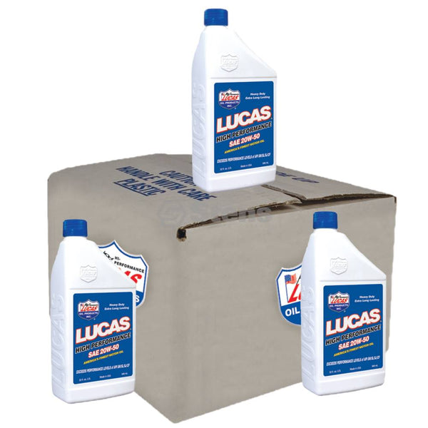 High Performance Oil 20W-50, Case Of 6 Qt Bottles (Stens 051-624)