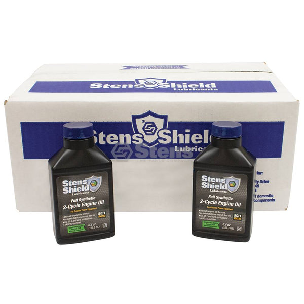 Stens Shield 2-Cycle Engine Oil, 50:1 Full Synthetic, Twenty-four 6.4 oz. bottles (Stens 770-643)