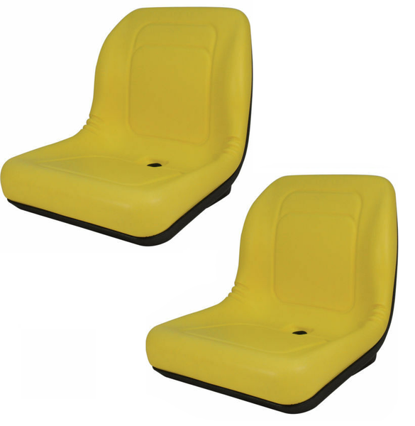 Set of Two High Back Seats for John Deere Trail, Worksite & Turf Gator 4X2 6X4 + Kubota (LGT100YL)