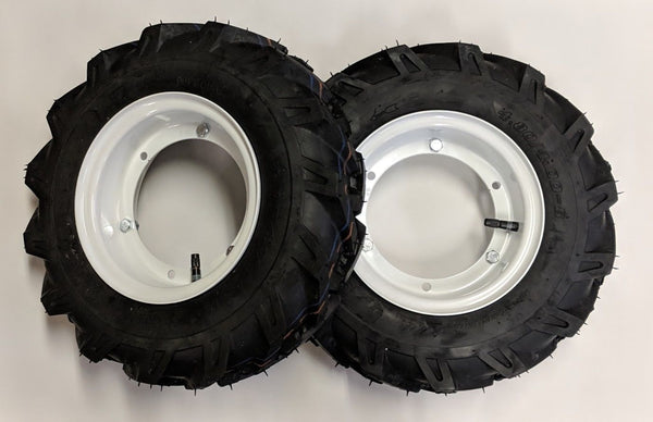 "8"" Split Rims with Tires Mounted Gravely 12673, 12674 2 Wheel Model L, 500, 5000"