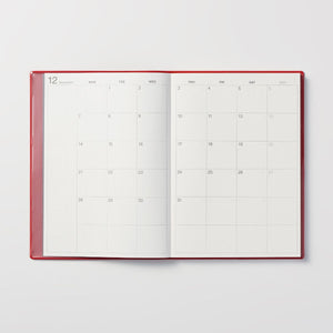 MUJI 2021 Monthly Weekly Yearly Planner RED A5 - USA Seller