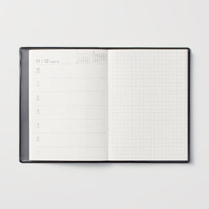 MUJI 2021 Monthly Weekly Yearly Planner DARK GRAY A6 - USA Seller