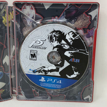 Persona 5 (Sony PS4, Standard NOT Royal) Launch Edition Steelbook + Game - COMPLETE