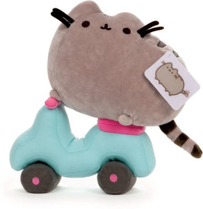 "Pusheen on a Scooter 10"" Plushie (B&N Exclusive Plushie) BRAND NEW"