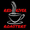 Image of coffee cup with steam and Red River Roasters name