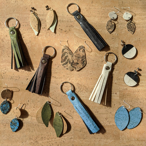 small cork pieces made from offcuts
