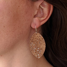 Load image into Gallery viewer, Petal cork earrings, ice blue