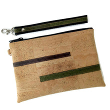 Load image into Gallery viewer, Cork leather pouch natural