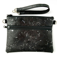 Load image into Gallery viewer, Medium pouch bag, black with silver flecks
