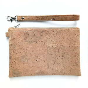 Perfect pouch natural with silver flecks