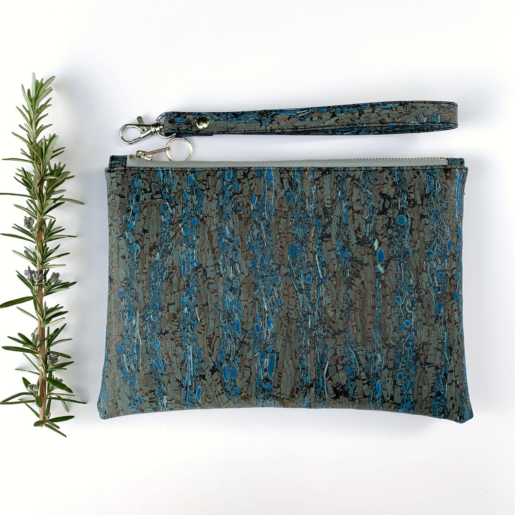 Perfect pouch blue fennel