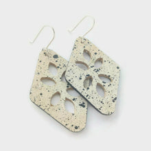 Load image into Gallery viewer, Cut Out cork earrings, black spots