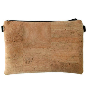 Medium pouch bag, natural with rainbow flecks