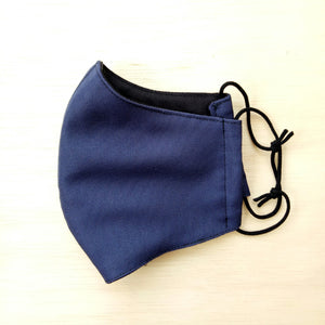 Water resistant face mask, navy blue