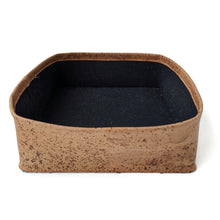 Load image into Gallery viewer, Square soft cork basket with linen insert